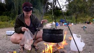 Tisza-túra: vadkempingezés csirkepörkölttel