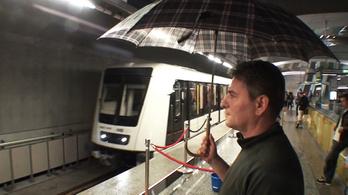 Vigyen esernyőt, ha 4-es metróval utazik!