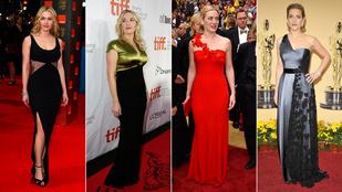 Kate Winslet biztosra megy a vörös szőnyegen
