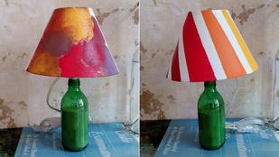 Egyedi lámpa fakezűeknek