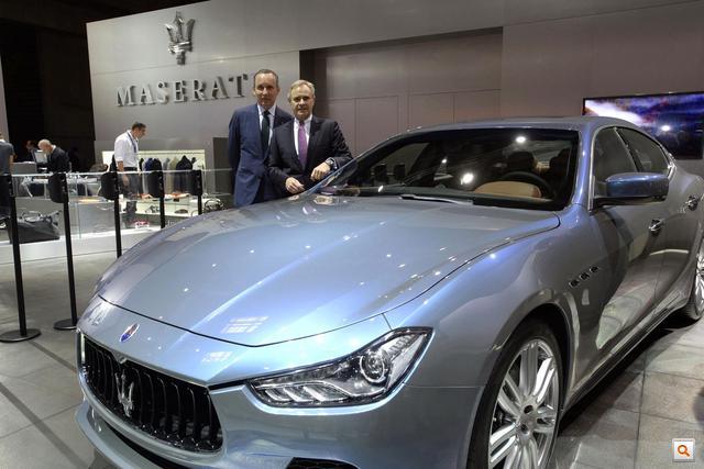 Ermenegildo Zegna and Harald Wester -Paris Motorshow 1