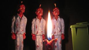 Zombis gyertya Halloweenre: menő vagy ciki?