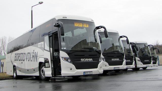 A Borsod Volán Scania buszai
