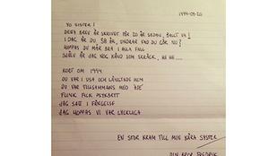 Öt éve elhunyt testvérétől kapott levelet