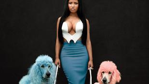 Nicki Minaj gigadekoltázzsal és kutyákkal pózolt