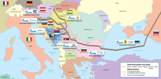 Gazprom, Déli Áramlat vezetékterv
