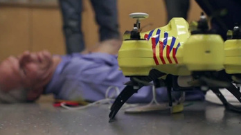 Életet menthet a defibrillátor drón