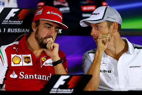 Alonso és Button, pár hete, Szocsiban