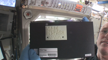 3D-ben nyomtattak az űrállomáson
