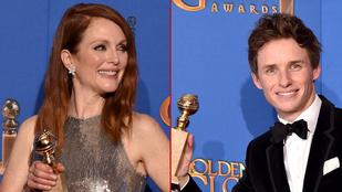 Nézze, mennyire örültek a Golden Globe díjazottjai