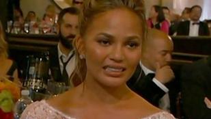 Chrissy Teigen síró arca nyerte a Golden Globe-ot
