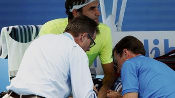 Federer: Még sosem éreztem ekkora fájdalmat