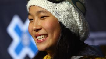 Egy 14 éves kamaszlány a snowboard új uralkodója