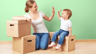 Költözés kisgyerekkel - tippek