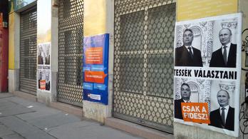 Putyin képekkel díszítették fel a Fidesz-irodákat