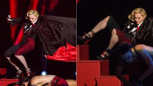 Madonna még egy óriási zakózásból is jól jön ki