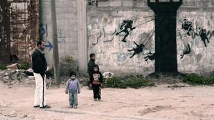 Banksy dokumentumfilmet forgatott Gázáról