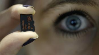 200 gigabájt egy kisujjkörömnyi műanyagon