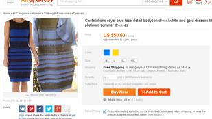 Már hamisítják is a kék-fekete ruhát