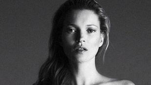 Kate Moss félmeztelenül, festékesen állt modellt
