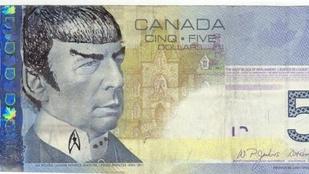 A kanadai jegybank is Spock kapitány rajongója