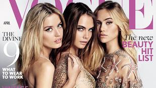 Ilyen, amikor három szupermodell a Vogue-ban pucérkodik