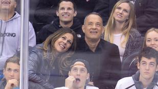 Tom Hanks feleségének melleit rákbetegség miatt eltávolították