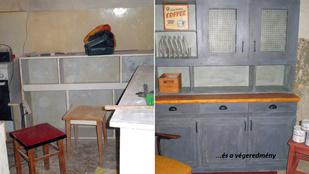 Szocialista konyhabútorból menő vintage darab