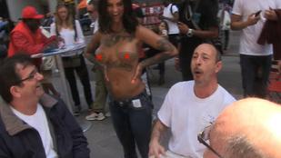 Bonnie Rotten félmeztelenül ünnepelte, hogy New Yorkban szabad pucérkodni