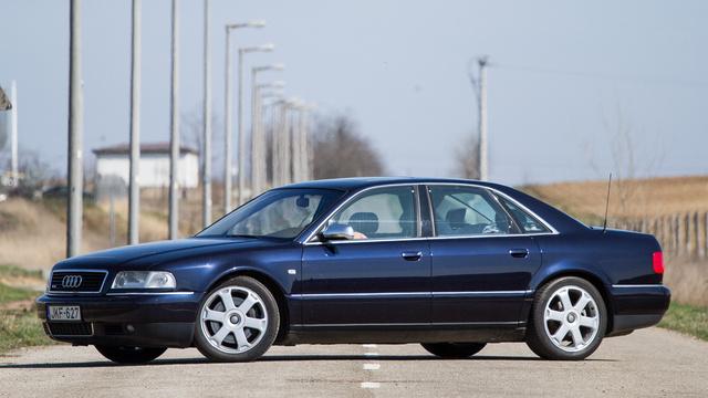 Audi S8 egy korábbi használttesztünkből. A kép csak illusztráció