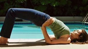 Cindy Crawford jógázás közben is tökéletes