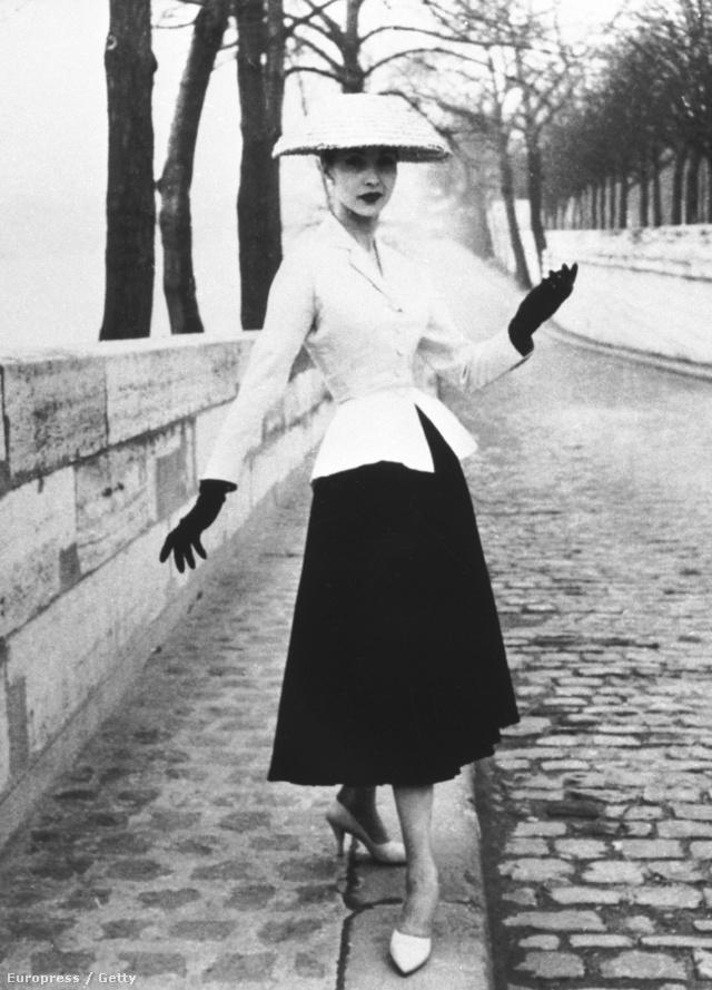A New Look és vele együtt a 'Bar Jacket' 1947-ben robbant be a köztudatba.