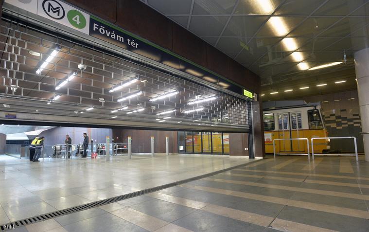 Eddig a Fővám téren jutott legközelebb a villamos a négyes metróhoz