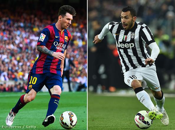 Messi és Tevez az argentin válogatottban csapattársak