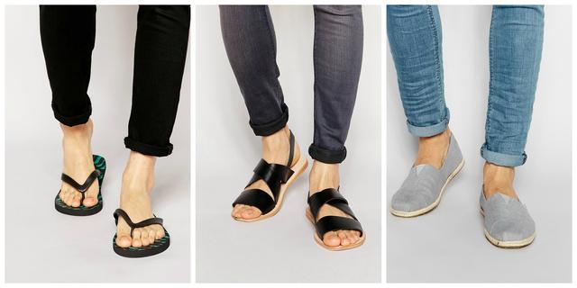 A flip-flop helyett inkább válasszon egy szép bőrszandált, vagy - ha a kényelemre szavaz, akkor - egy espadrilles cipőt.