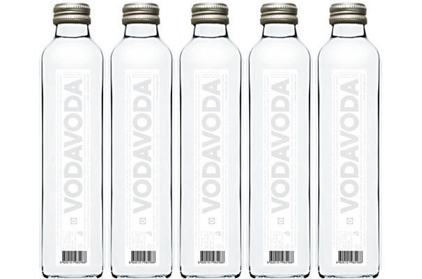 Vodavoda water glass bottle