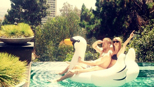 Taylor Swift és Calvin Harris hattyúval romantikáznak