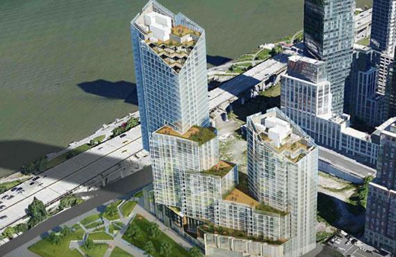 A 400 West 61. Street-en található ingatlanra a GID ingatlanfejlesztő cég nyújtott be engedélyezési kérelmet Manhattanban. A Riverside Center fantázianéven futó komplexum első lakótornya a tervek szerint 37 emelet magas lesz majd.