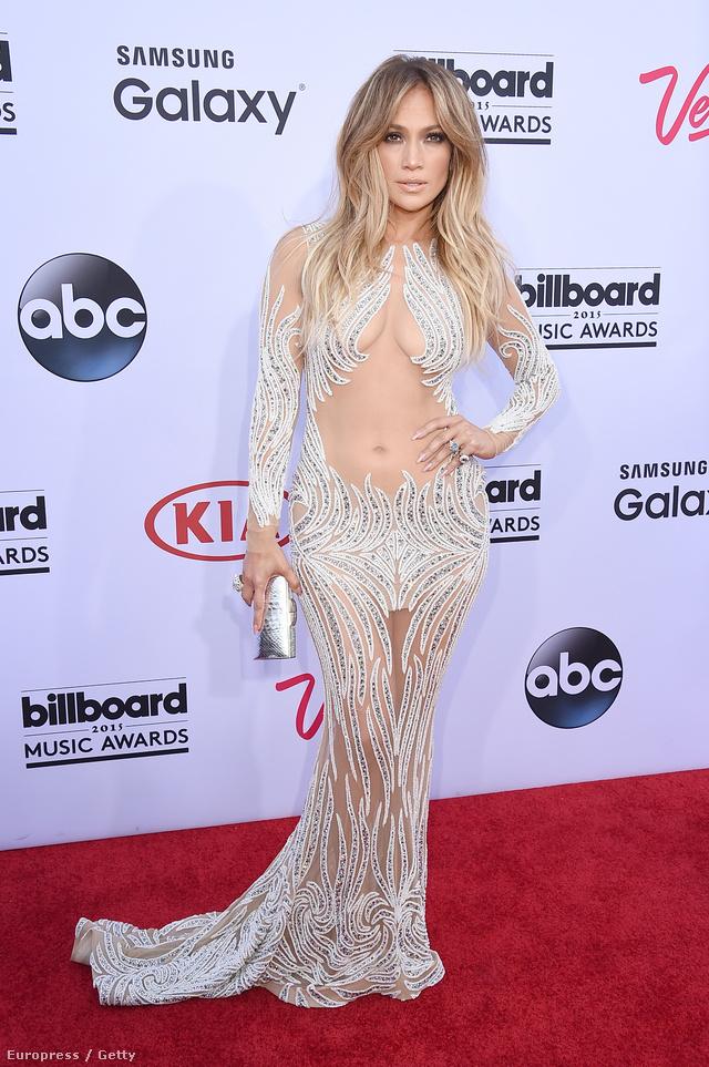Jennifer Lopez az idei Billboard Music Awardson Las Vegasban.