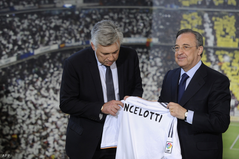 Ancelotti és Perez 2013-ban, amikor Ancelotti a Realhoz került.