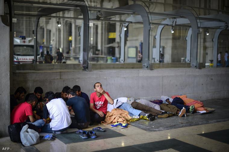 Eritreai menekültek Milánóban