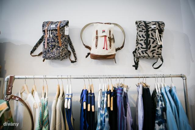 Dori Tomcsanyi, KELE Clothing, The FOUR, MEI KAWA, Wood Wood, Sandqvist, TOMS, VIDONORI, YKRA, APRÉS SKI, Hajduanett Leather Goods, The Mama Kin, BALILLA ruhákat, kiegészítőket, berendezési tárgyakat találunk az üzletben.