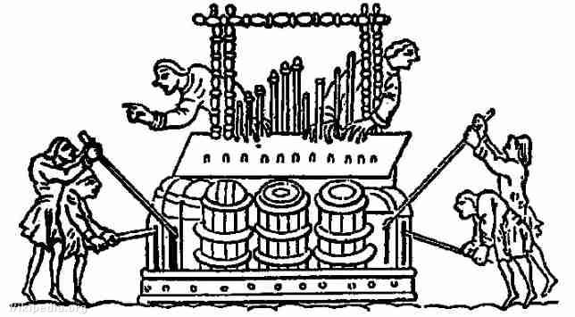 Egy hatalmas vízorgona képe a IX. századból