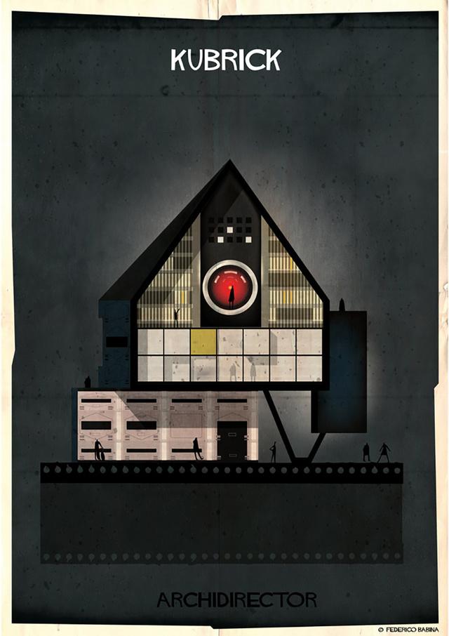 Kubricot az 1968-ban forgatott 2001: Űrodüsszeia című filmmel azonosította be a művész.