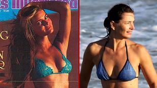 Kérjük, ne akadjon ki, de ennyit változott ez a bikinimodell 30 év alatt