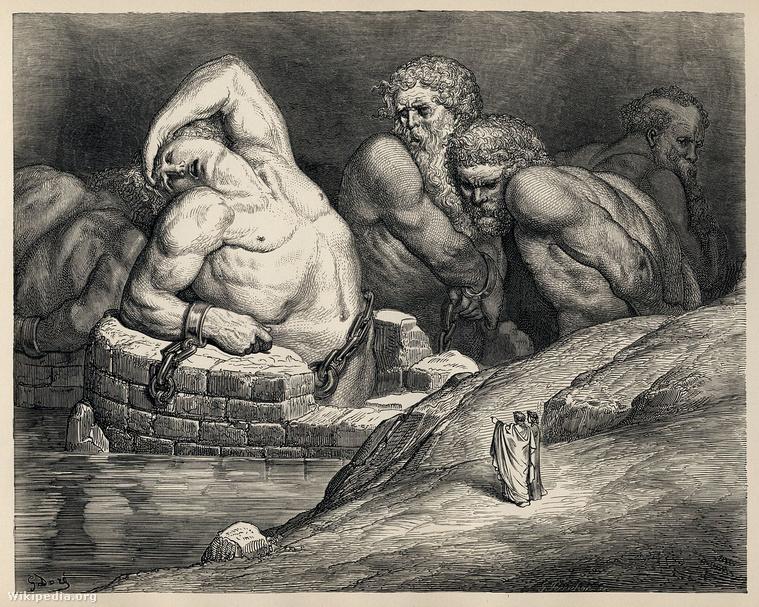 Titánok és gigászok leláncolva a pokolban