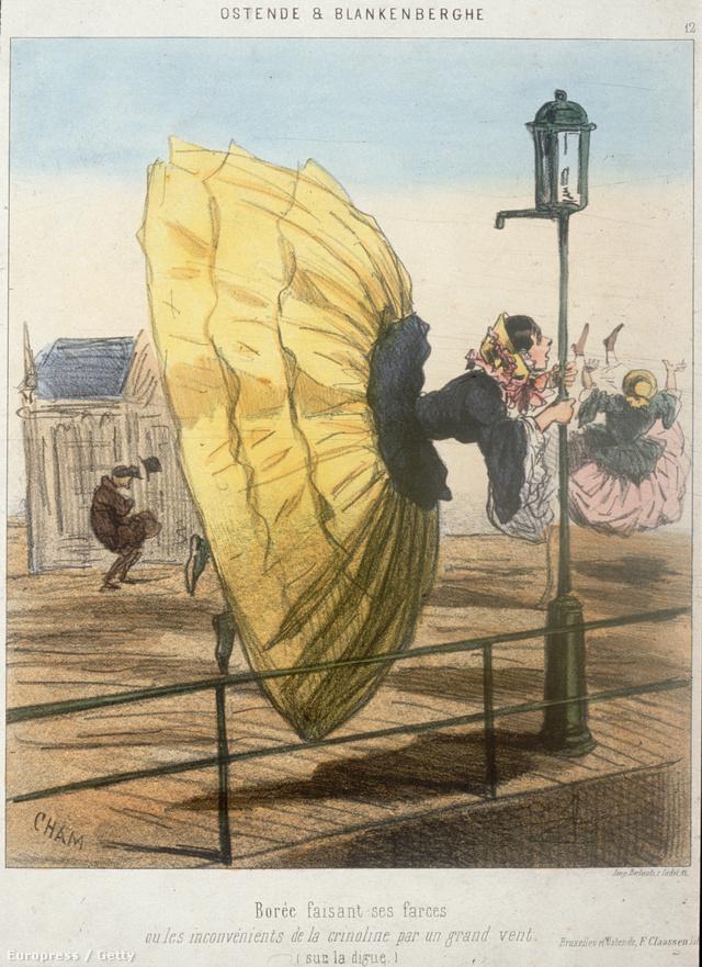 Görcsösen kellett kapaszkodni a lámpaoszlopba, hogy el ne fújjon az abroncsszoknyánkkal együtt az északi szél.