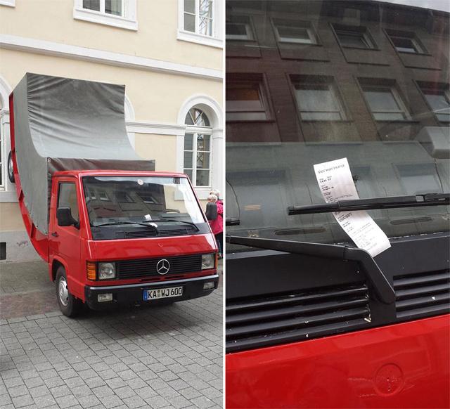 bent-truck-parking-ticket-germany-Erwin-Wurm-62