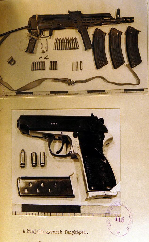 Pintye András január 7-én, apja szolgálati helyének páncélszekrényéből lopta el a túszejtéshez használt fegyvereket és lőszereket.
