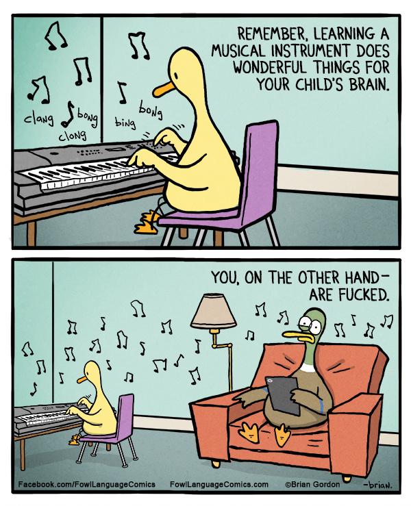 Ne feledd: a zenetanulás csodálatos dolgokat tesz a gyerek agyával. Te viszont megszívtad.